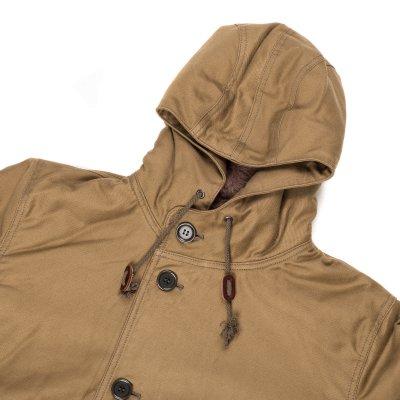 Khaki Alpaca Lined Whipcord N1 Deck Half-Coat