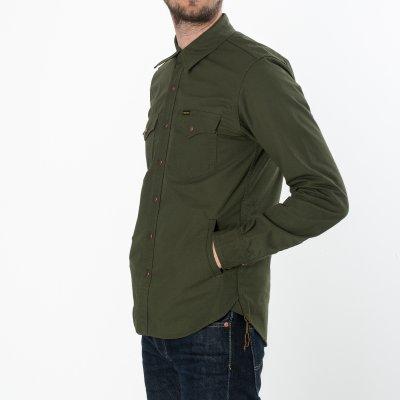 Olive Cotton Ripstop CPO Shirt