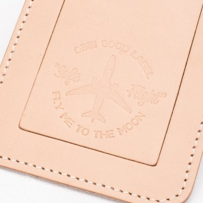 OGL FMTTM Leather Luggage Tag Natural