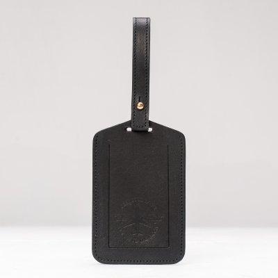OGL FMTTM Leather Luggage Tag Black