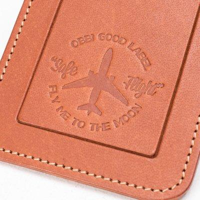 OGL FMTTM Leather Luggage Tag Tan