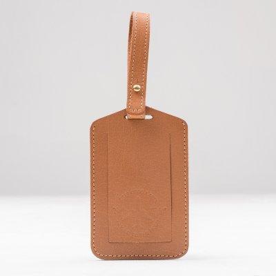 OGL FMTTM Leather Luggage Tag Taupe