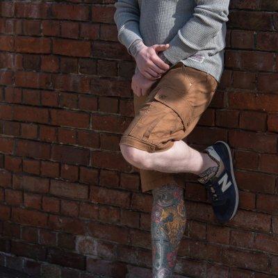 Swedish Serge Camp Shorts in Brown