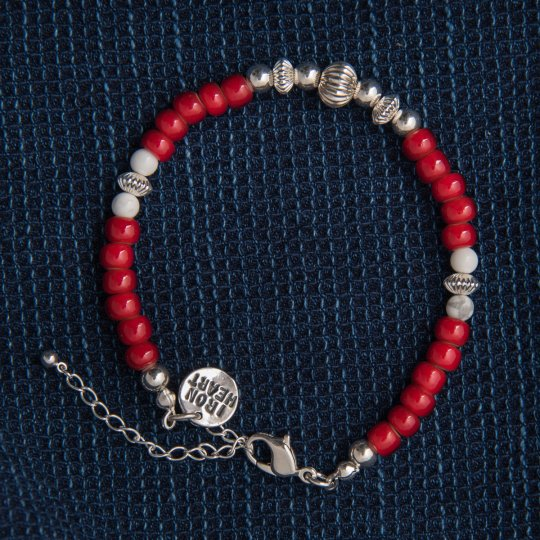 Beads Bracelet with Silver