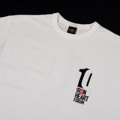 "6.5oz Printed Loopwheel Crew Neck T-Shirt ""IH Forum 2019"" - White or Grey"