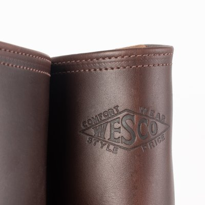 """Wesco® - 10"""" Horsehide Pull-On """"Mister Lou""""  Engineer Boot - Brown"""