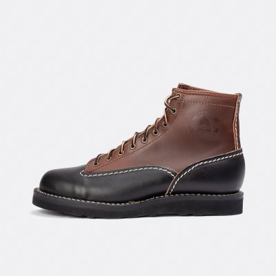 """Iron Heart Int'l x Division Road x Wesco® - 7"""" Black/Brown Horsehide Jobmaster® Boot"""