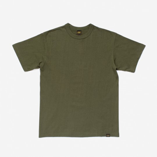 6.5oz Loopwheel Crew Neck T-Shirt with longer body - Olive