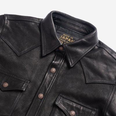 Ezo Deerskin Western Shirt - Black